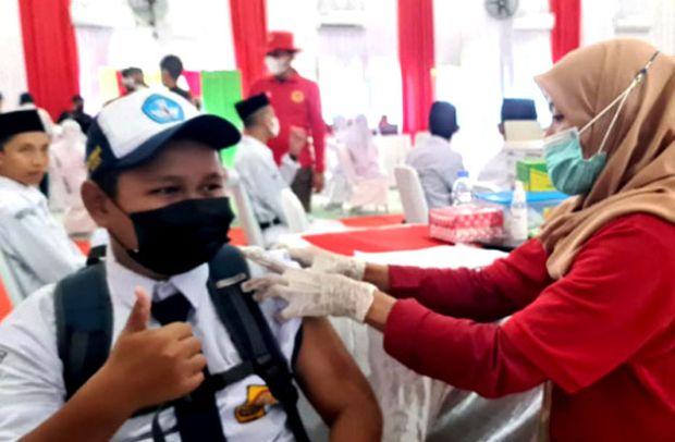 Cakupan Vaksinasi di Kalangan Pelajar Maros Masih Rendah