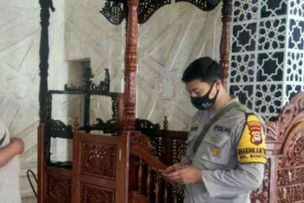Mimbar Masjid Raya Makassar Dibakar Orang Tak Dikenal