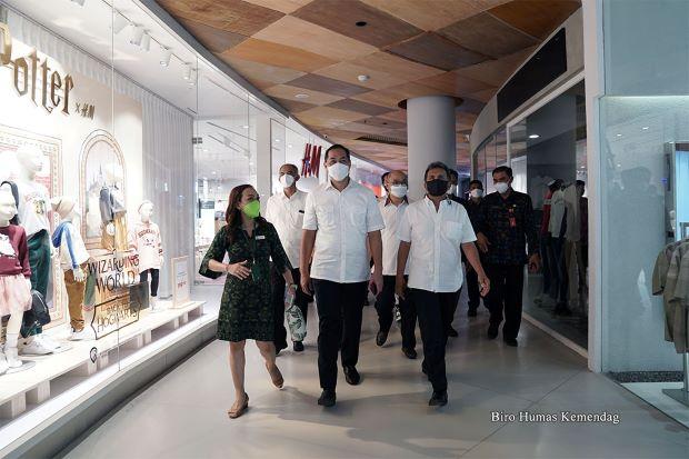 Kunjungi Pusat Belanja di Bali, Mendag Senang Kepatuhan PeduliLindungi Capai 81,71%