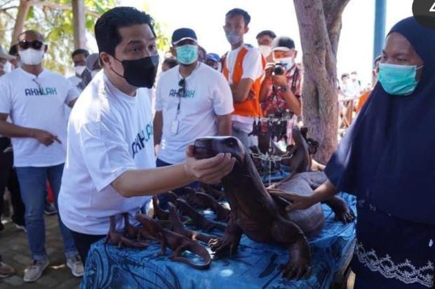 Kunjungi Desa Komodo, Erick Thohir Harap CSR BUMN Berdampak Positif