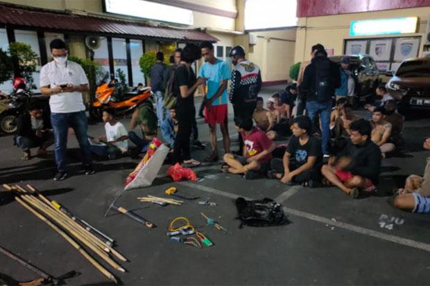 Puluhan Pelaku Tawuran di Makassar Diringkus Polisi