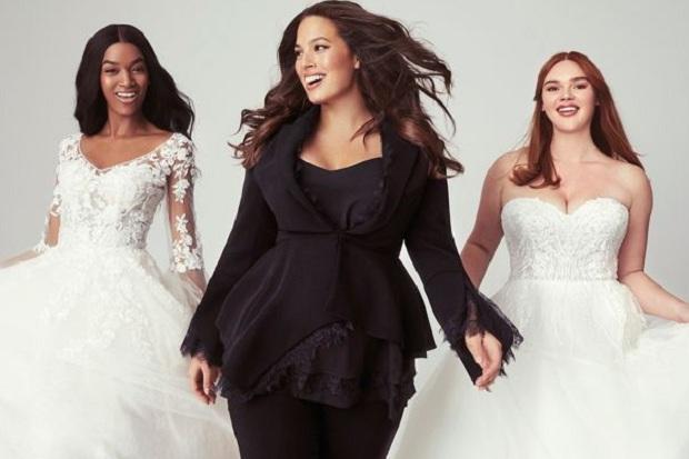 Desainer Ashley Graham Bikin Gaun Pengantin Wanita dengan Tubuh Besar