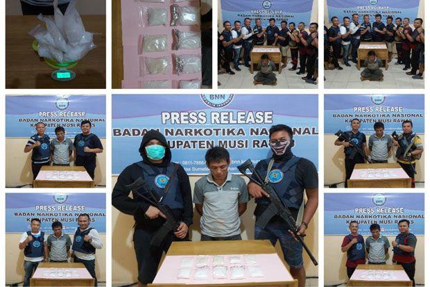 Tim Gabungan BNN Ringkus Bandar Sabu Asal Muratara