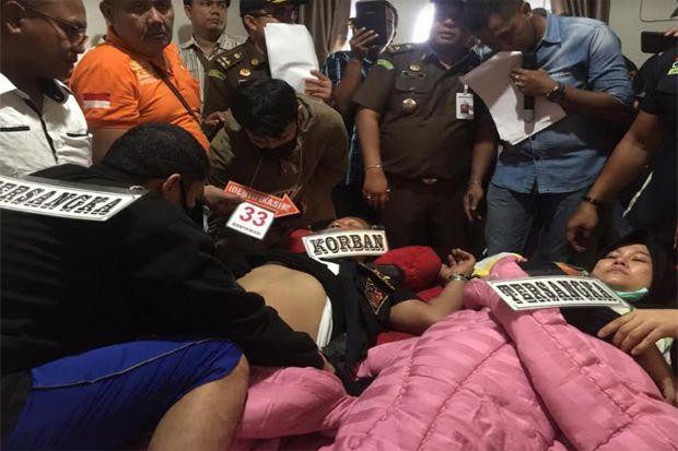 Kapolda Sumut Hadiri Rekonstruksi Pembunuhan Berencana Hakim PN Medan