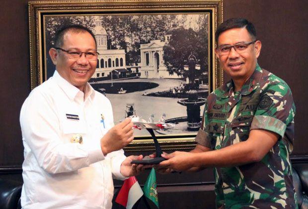 Pangkosekhanudnas Siap Bantu Kota Medan Tanggulangi Banjir