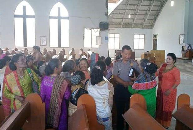 Kapolsek Dolok Sanggul Rangkul Masyarakat Lewat Ibadah Gereja