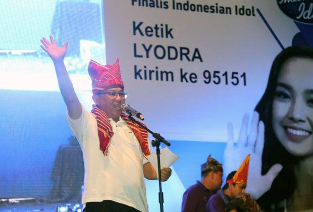 Plt Walkot Medan Nobar Bersama Ribuan Sahabat Lyodra Ginting