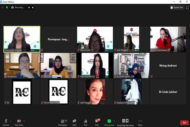 Gelar Webinar Parenting, Perempuan Jenggala Mantapkan Program E-Learning