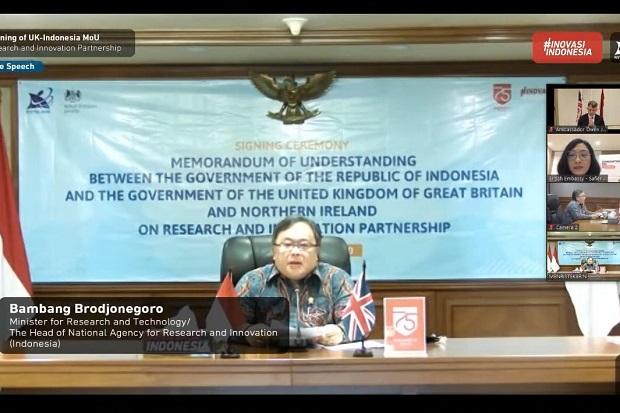 Indonesia-Inggris Sepakat Kerja Sama Riset Penanggulangan COVID-19