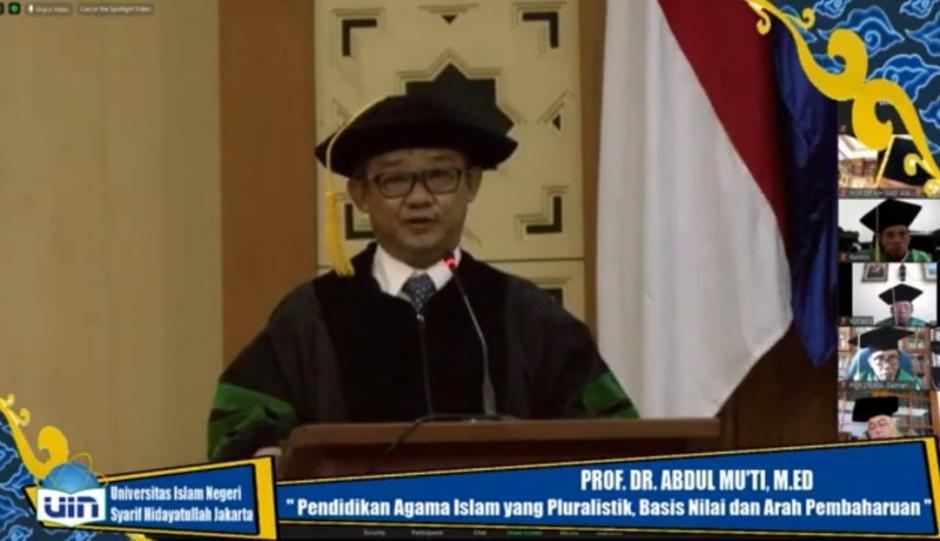Dikukuhkan Jadi Guru Besar, Abdul Mu'ti Dorong PAI Inklusif-Pluralis