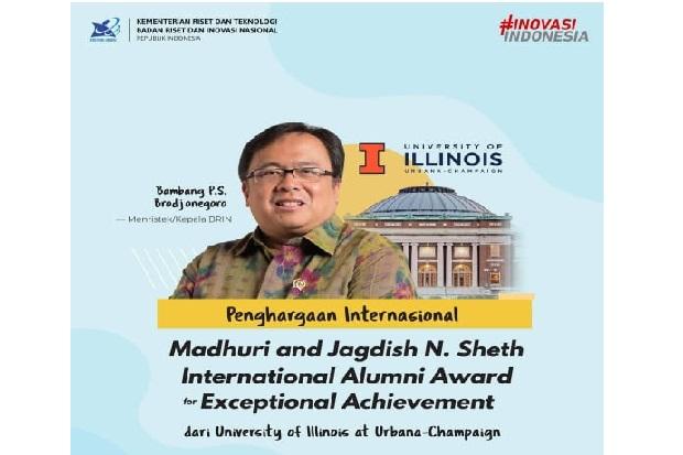 Berprestasi, Menristek Raih Penghargaan Internasional dari UIUC
