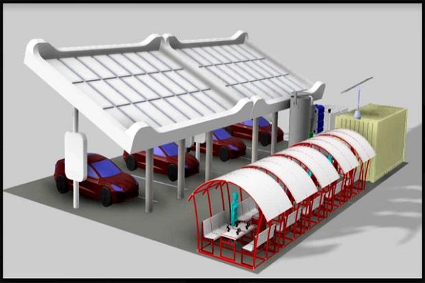 3 Mahasiswa ITS Gagas Smart Charging Station Ramah Lingkungan