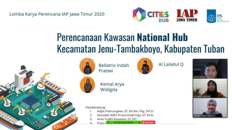 Tim Mahasiswa ITS Rancang Pelabuhan Terintegrasi Berkonsep National Hub