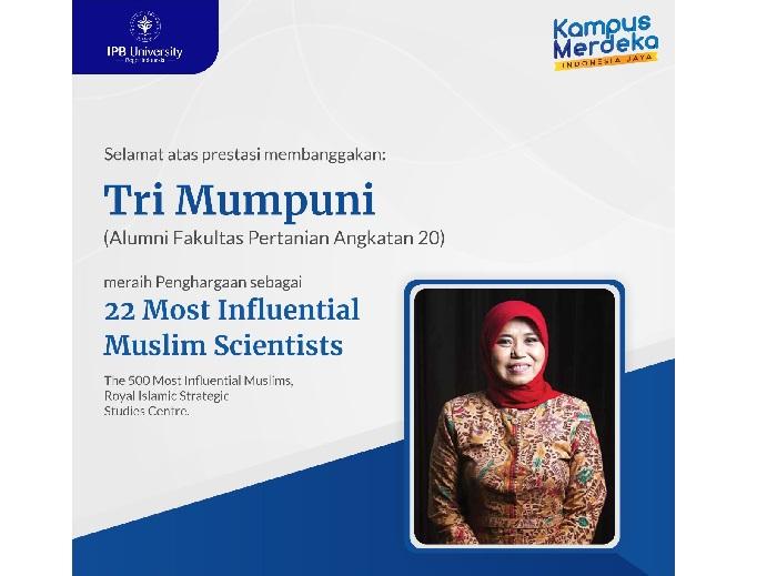 Alumnus IPB University Raih 22 Most Influential Muslims Scientist