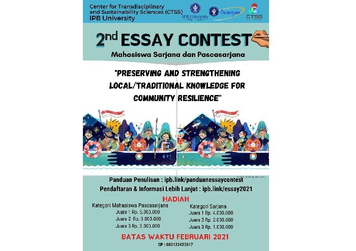 IPB Selenggarakan Essay Contest tentang Pengetahuan Lokal