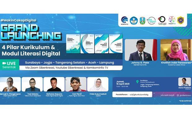 Kemkominfo dan Siberkreasi Luncurkan Kurikulum dan Modul Literasi Digital