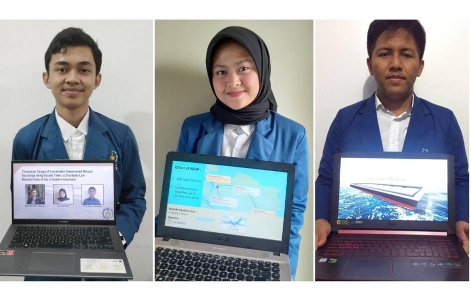 3 Mahasiswa ITS Rancang Tongkang Bertangki Coselle untuk Distribusi Gas Bumi