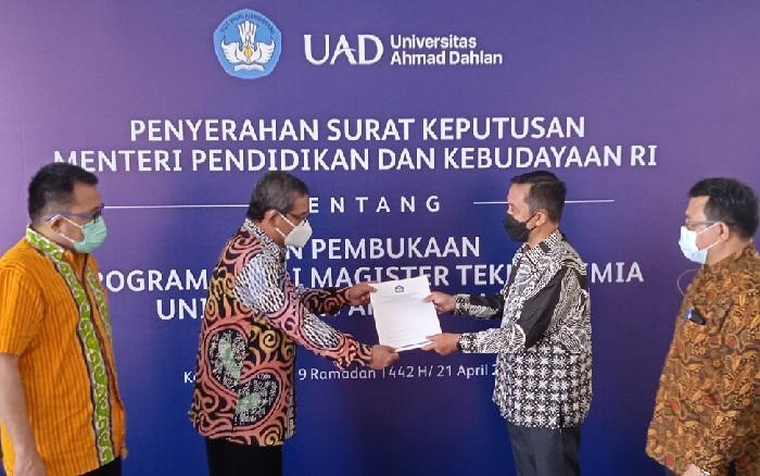 UAD PTS Pertama Buka Prodi Baru Magister Teknik Kimia