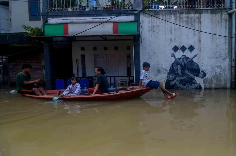 Penampakan dari Udara Banjir Setinggi 2 Meter Rendam Empat Kecamatan di Kabupaten Bandung-1