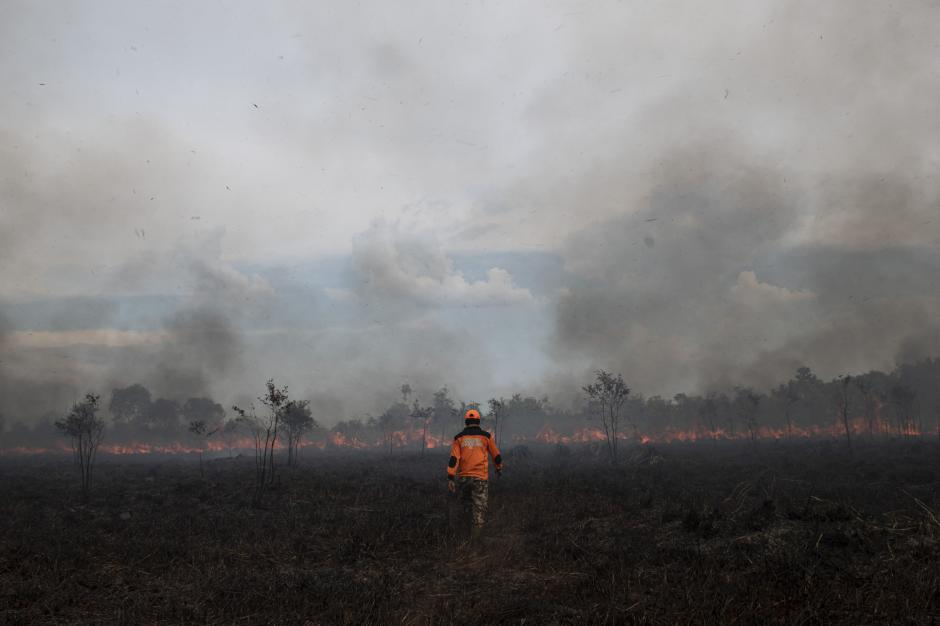 Kebakaran Lahan di Ogan Ilir-3