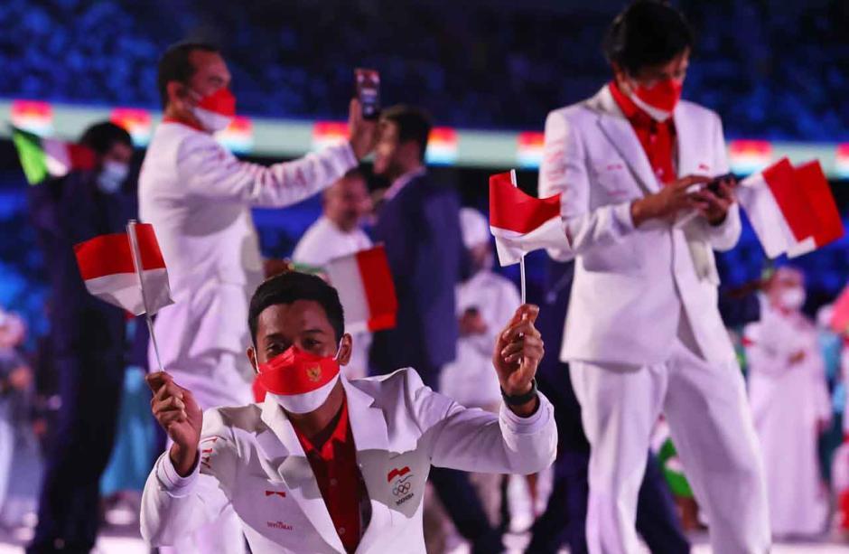 Defile Peserta Olimpiade 2020, Rio Waida dan Nurul Akmal Pimpin Kontingen Indonesia-2