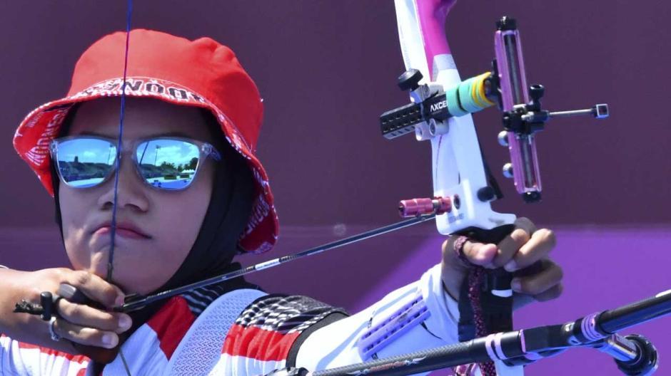 TOP! Tim Panahan Indonesia Tundukan Amerika Serikat di Babak Eliminasi Beregu Campuran Olimpiade Tokyo 2020-1