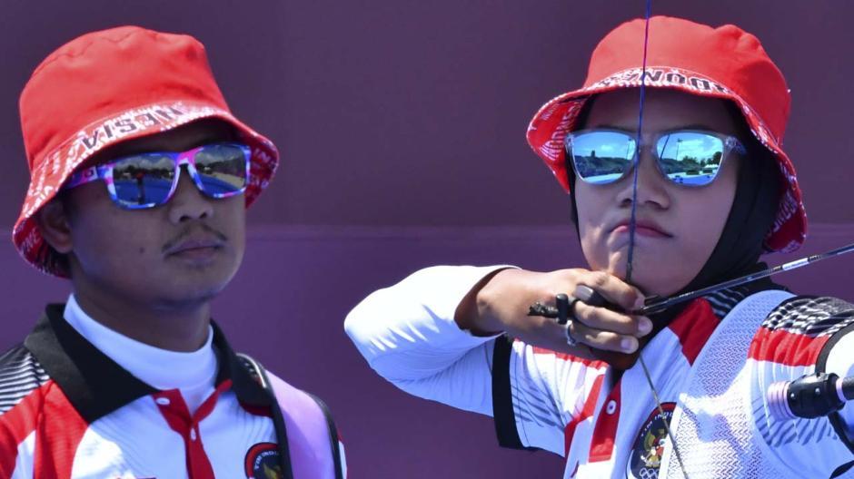 TOP! Tim Panahan Indonesia Tundukan Amerika Serikat di Babak Eliminasi Beregu Campuran Olimpiade Tokyo 2020-5