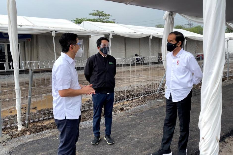 Jokowi Tinjau Pembangunan Rumah Oksigen Gotong Royong-0