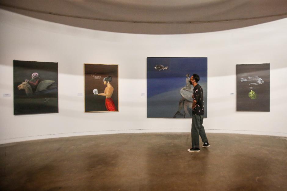 Peringati 80 Tahun, Goenawan Mohamad Pamerkan Karya Seni Rupa-5