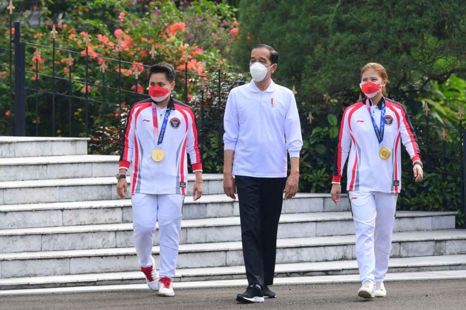 Presiden Berikan Apresiasi Tim Olimpiade Tokyo 2020-2