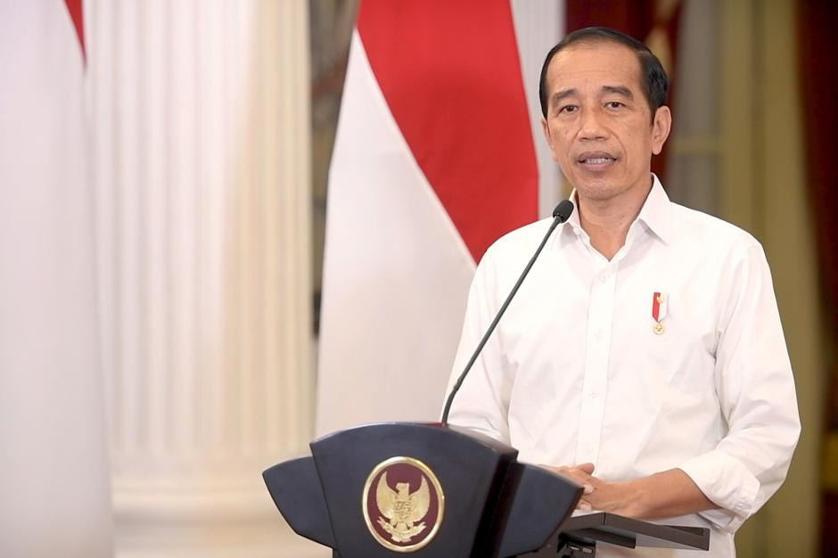 Presiden Jokowi Umumkan Perkembangan PPKM-1