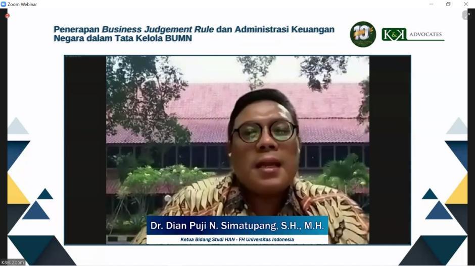 Pentingnya Penerapan Business Judgement Rule dan Administrasi Keuangan Negara dalam Tata Kelola BUMN-0