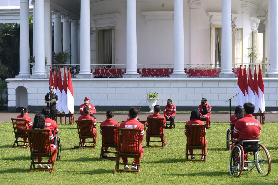 Presiden Sambut Atlet Paralimpiade Tokyo di Istana Presiden Bogor-0