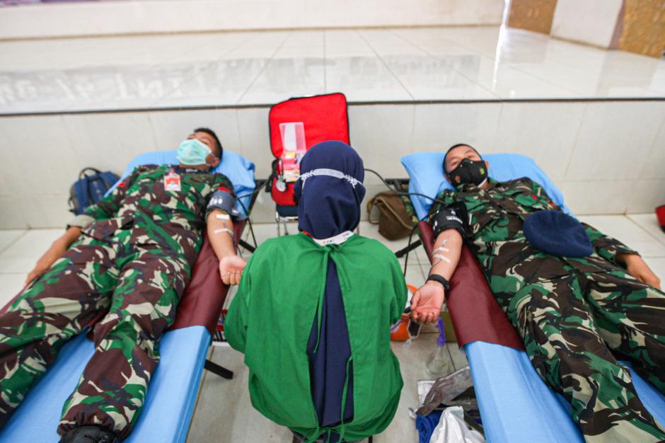 Sambut HUT TNI ke-76, TNI AU Gelar Donor Darah-0