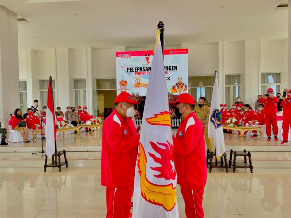 Gubernur Sulut Lepas Kontingen PON XX Papua-2