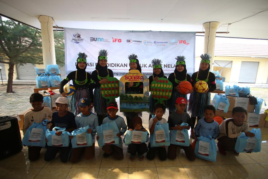 JMI-IFG Kolaborasi Bantu Anak Nelayan Pulau Tunda-5