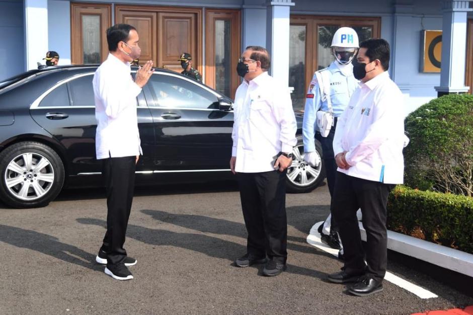 Erick Tohir Dampingi Jokowi Groundbreaking Pabrik Smelter PT Freeport Indonesia di Jawa Timur-1