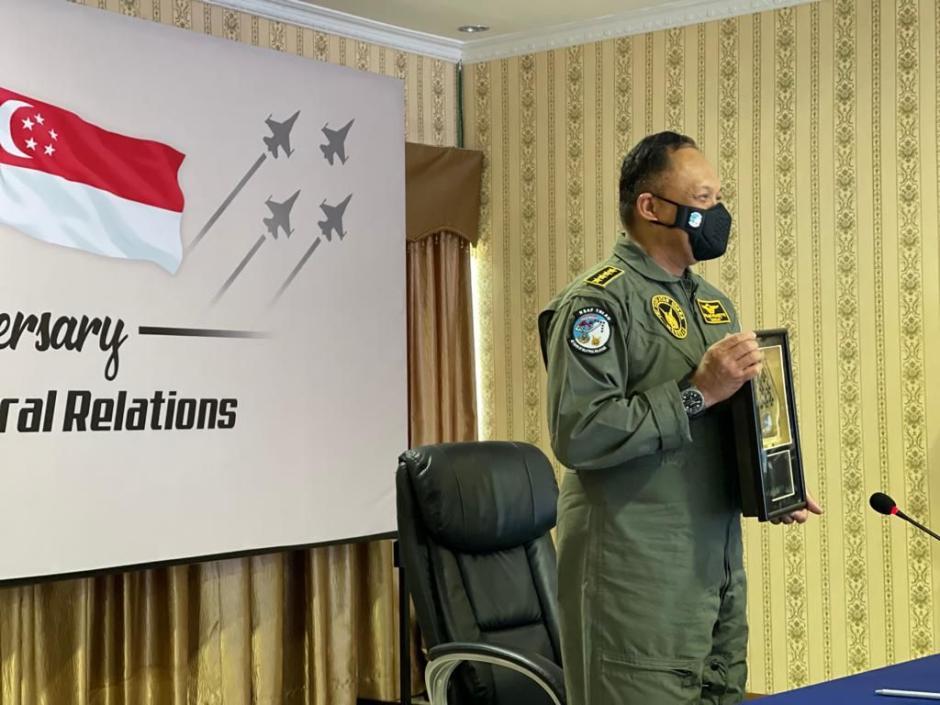 Rayakan 4 Dekade Hubungan Bilateral, Kasau dan CAF RSAF Tandatangani Deklarasi Bersama-1