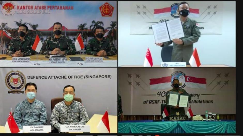 Rayakan 4 Dekade Hubungan Bilateral, Kasau dan CAF RSAF Tandatangani Deklarasi Bersama-0
