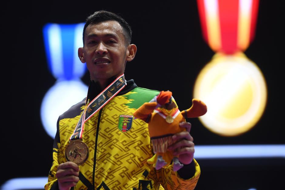 Karateka Lampung Raih Emas Kumite 55 Kg PON XX Papua 2021-1