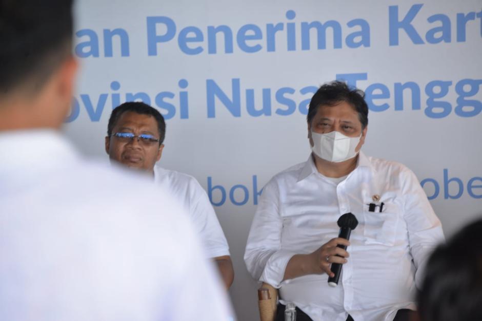 Menko Airlangga Semangati Penerima Kartu Prakerja di Provinsi NTB-2